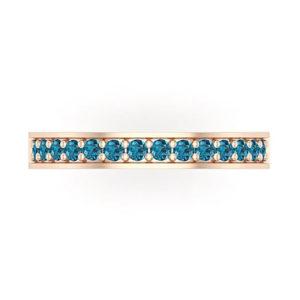 Blue Diamond Wedding Ring
