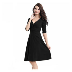 V-Neck Casual Party Dress